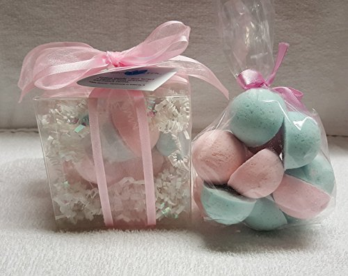 COTTON CANDY Bath Bomb Gift Set with 14 1 oz, ultra-moisturizing bath bombs, great for dry skin, makes a great gift
