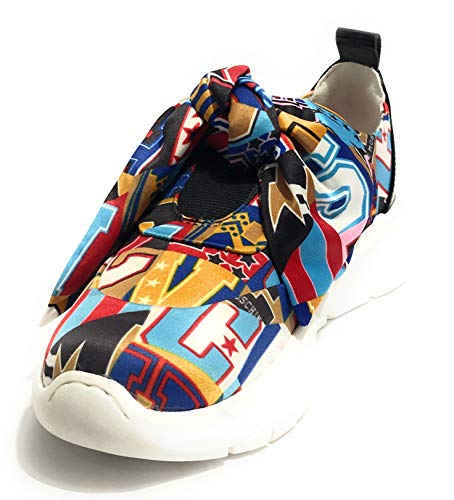 Moschino Ds19mo11 Donna Running Raso Lettering Sneaker Love Fiocco Stampa OrZqO7