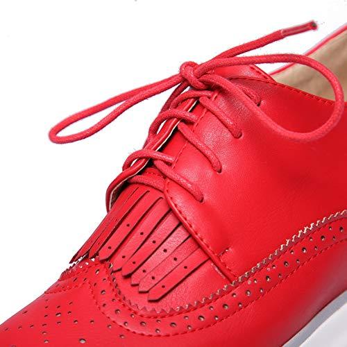 AN 36 Rouge Red Femme Sandales EU 5 DGU00656 Compensées 7rwq7YU