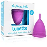 Lunette Menstrual Cup - Violet - Reusable Model 2 Menstrual Cup for Heavy Flow