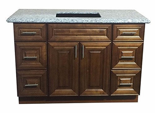New Maple Walnut Single-sink Bathroom Vanity Base Cabinet 48