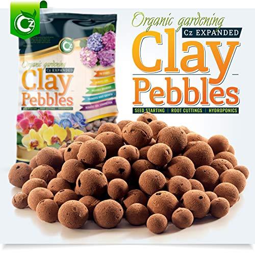 Organic Expanded Clay Pebbles Grow Media - Orchids • Hydroponics • Aquaponics • Aquaculture Cz Garden (2 LBS Cz Garden Expanded Clay - Orchid Garden