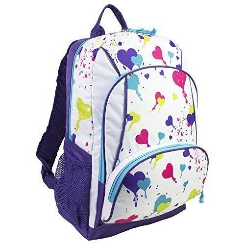 eastsport-triple-pocket-backpack-heart-print