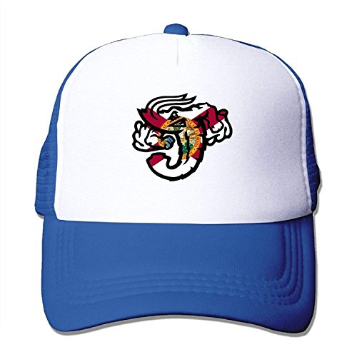 WAZH New Baseball Caps Jacksonville Jumbo Shrimp Florida Flag Outdoor Sport Fishing Hats