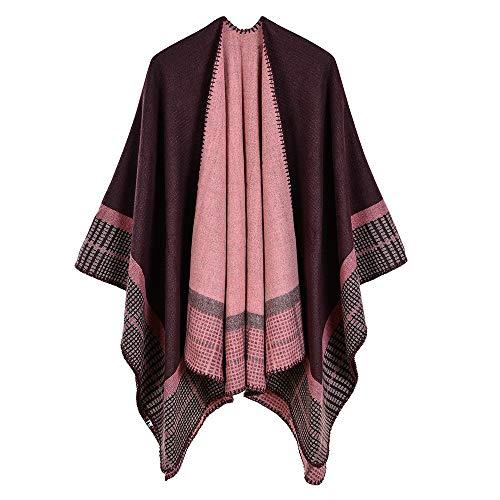 Acrílico Las Gaoqq Abrigo Recorrido Del Cachemira Imitación a La Mantón Caliente Mujeres Red capa De Chal black wqUqEH