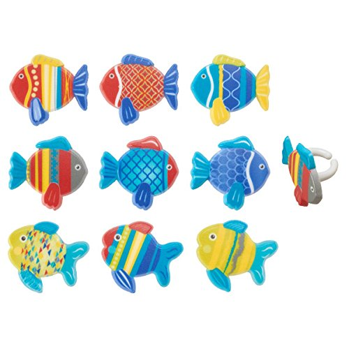Fish Ring Tropical - Fish Cupcake Rings - 24 pc