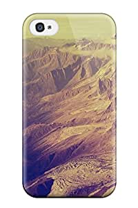 MDHKphT9181NajBW Tpu Phone Case With Fashionable Look For Iphone 4/4s - Mountains Fog Sky Valley Amp Digital