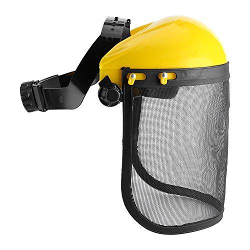 Logging Helmet Full Face ShieldProtection Safety Mask Adjustable Mesh Visor for Chainsaw Gardening Logging Brushcutter Forestry