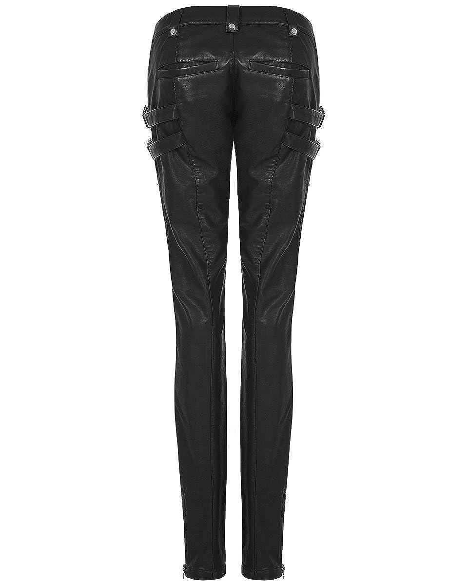 6da7cc9f18 Punk Rave Womens Faux Leather Pants Jeans Black Gothic Dieselpunk Biker  Trousers: Amazon.co.uk: Clothing