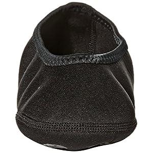 NuFoot Ballet Flats Women's Shoes, Best Foldable & Flexible Flats, Slipper Socks, Travel Slippers & Exercise Shoes, Dance Shoes, Yoga Socks, House Shoes, Indoor Slippers, Black, Large