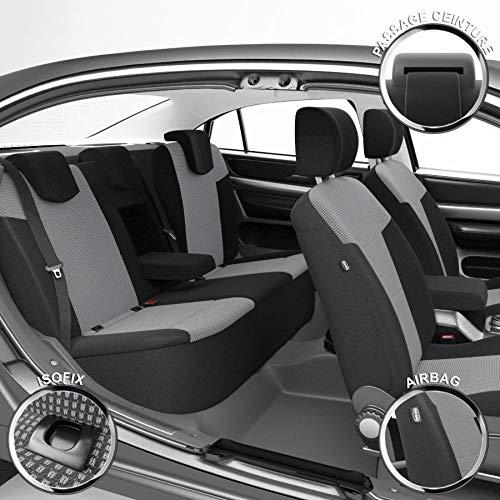 DBS 1012917 Housse de si/ège Auto//Voiture-sur Mesure-Finition Haut de Gamme-Montage Rapide-Compatible Airbag-Isofix-112917