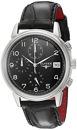 ELYSEE Men's 80551 Classic-Edition Analog Display Quartz Black Watch