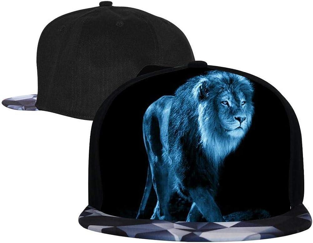 PASPTTO Colorful Lion Wild Animal World Hip Hop Hat Mens Fashion Full Frame 3D Print Adjustable Truck Driver Baseball Cap