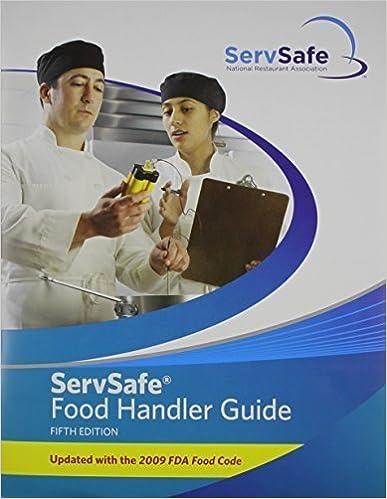 ServSafe Food Handler Guide 5th Edition Update (5th Edition) by National Restaurant Association (2010)