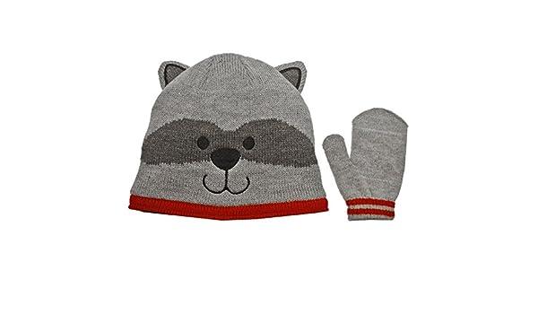Carters Raccoon Hat /& Mittens