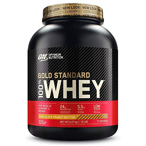 Optimum Nutrition Gold Standard Whey Protein Powder Muscle Building Supplements with Glutamine and Amino Acids…