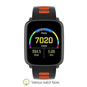 Prixton Smartwatch Reloj Inteligente acuático Sumergible IP68 con 2 Correas Incluidas, Compatible Android/iOS, Pulsómetro, Notificaciones, Fitness Tracker: ...