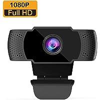 wansview conferencias juegos con clip giratorio Webcam 1080P con micr/ófono estudios ordenador port/átil de sobremesa USB 2.0 Full HD c/ámara web para videollamadas grabaci/ón