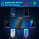 Seneo Galaxy S8 Fast Wireless Charger, QI Wireless Charger Stand Pad Fast Charge for Samsung Galaxy S8, Galaxy S8 Plus, S7, S7 Edge, Note 5, S6 Edge Plus (AC Adapter Not Included)