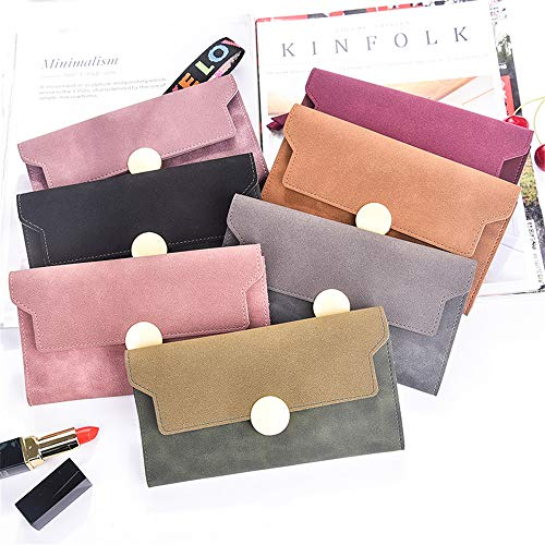 Color Position starch rabbit Lotus Casual root Multi Lovely Claret Card Clutch Women Long Purse AqIdZz