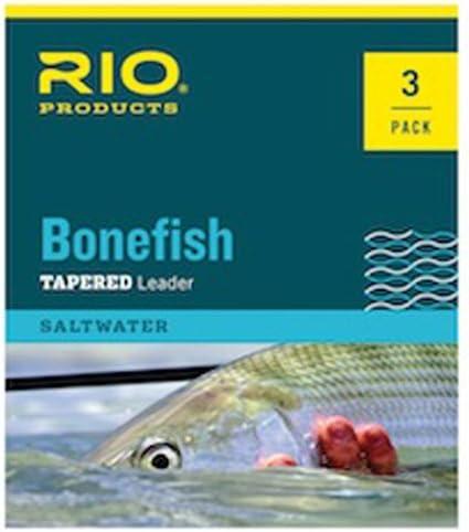Rio Bonefish Leader, 3 Pk, 10ft 10lb