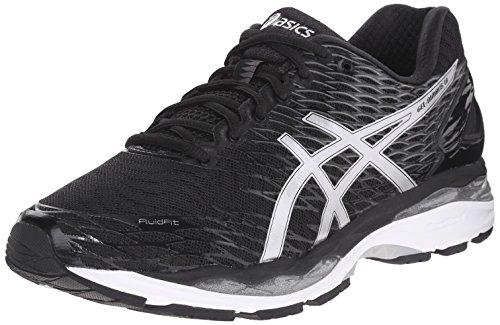 ASICS Men's Gel Nimbus 18 Running Shoe, Black/Silver/Carbon, 6 M US