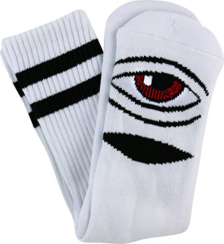 Toy Machine Sect Eye (Toy Machine Sect Eye III Crew Socks [White] Single Pair)