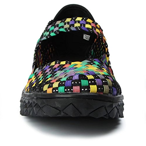 Froon Flat Shoes Mary On Muti Women's Jane Woven color Slip rxPqFHrw