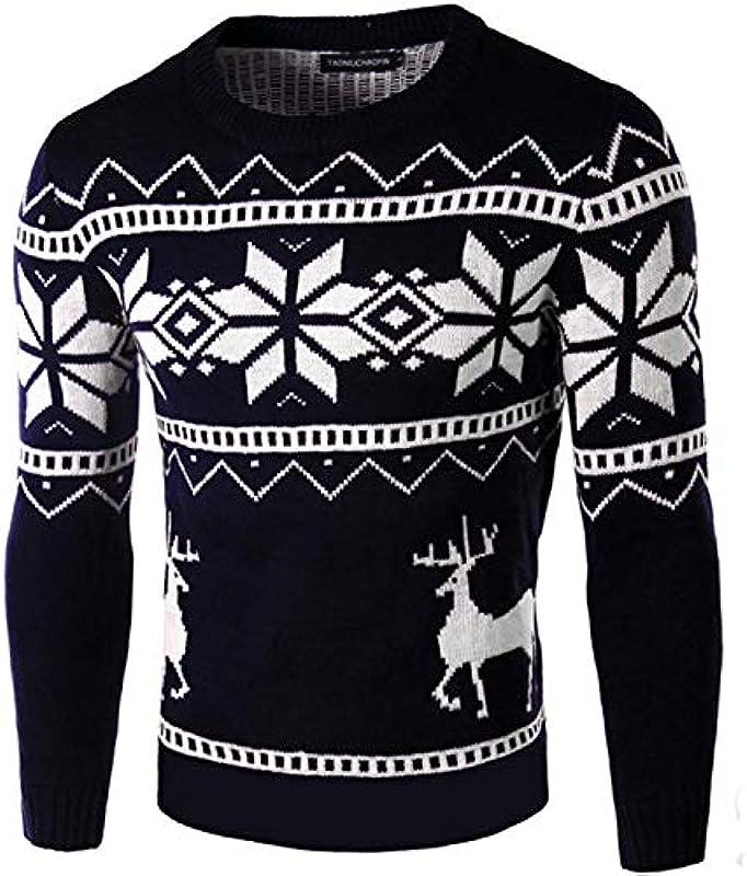 Męska bluza sweter sweter sweter dziergany z okrągłym kołnierzem Z wysokiej jakości wygodnych rozmiarÓw odzież z mieszanki bawełny: Odzież