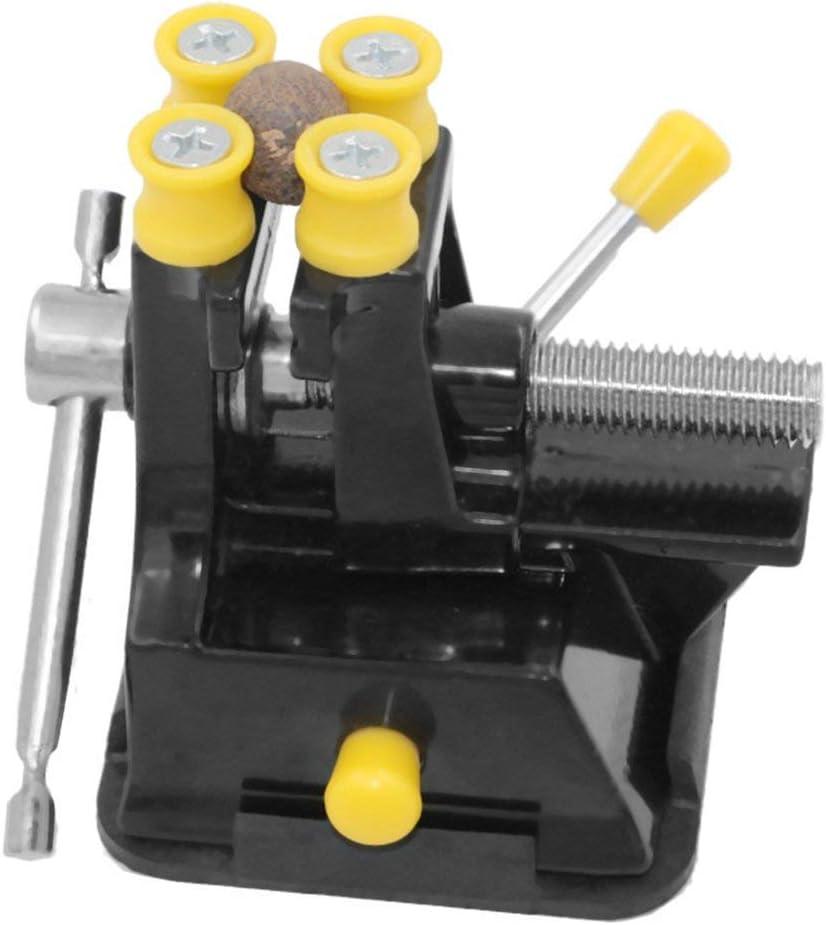 LouiseEvel215 Fuerte Ventosa Base Talla Tabla Tornillo de Banco Mini DIY del Metal Principal Herramientas Ahorra Espacio Press Abrazadera Talla Fixture Vise