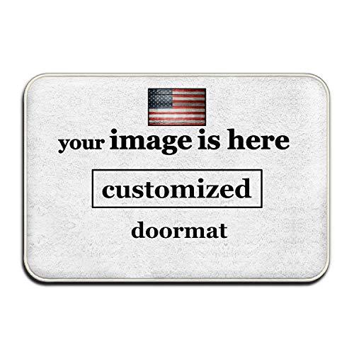 """aguopeng Personalized Doormat Customize Door Mat Entrance Mat Floor Mat Rug Front Door/Indoor/Outdoor/Bathroom/Kitchen Mats Non Slip Backing Floor Mat Indoor Entrance Rug Decor Mat (18""""x30"""")"""