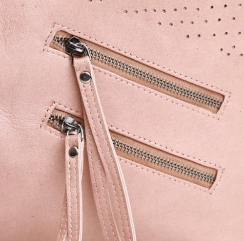 FEYNSINN Beuteltasche HALEY - Schultertasche XL - Hobo Bag - echt Leder camel-beige