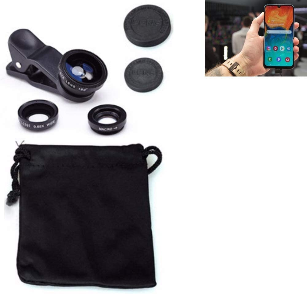 K-S-Trade/® Kompatibel Mit Samsung Galaxy A30 3in1 Clip-On Kamera Adapter F/ür Samsung Galaxy A30 Macro Weitwinkel FishEye Fischauge Objektiv Linse Smartphone Objektivset