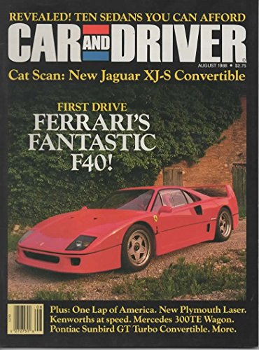 - Car & Driver Magazine, August 1988 (Vol 34, No 2)