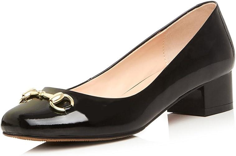 Block Heel Pump Shoe Black