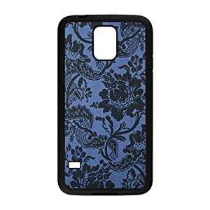 Blue Flowers Personalized Cover Case for SamSung Galaxy S5 I9600,customized phone case ygtg611517