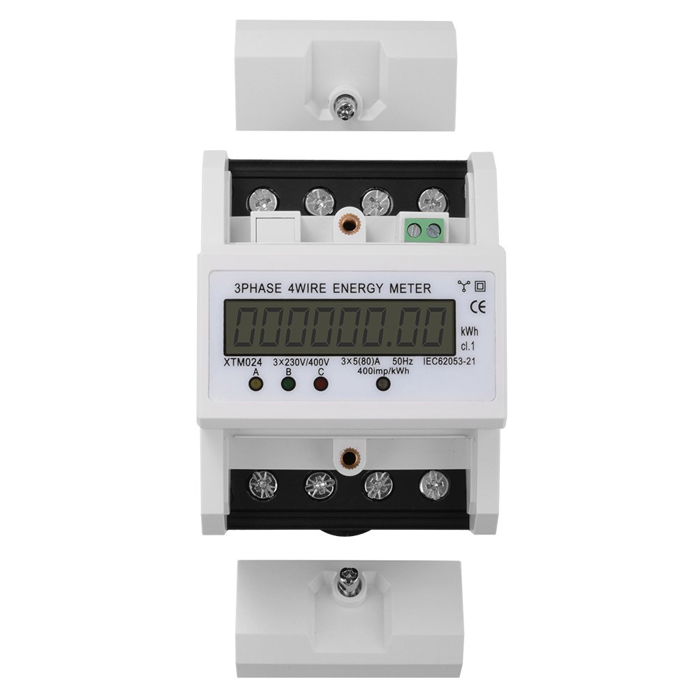 Xcsource 8 Digit Lcd Kwh Energy Meter 3x580a 3x230 Electrical Technology How To Wire A 3phase From The Supply 400v 50hz Three Phase Four Din Rail Watt Hour Te555 Home