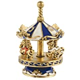 Stunning Collectors Dreidel - Carousel Blue/Gold