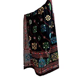 Indian Handicraft Cotton Kutch Work Dupatta Chunni