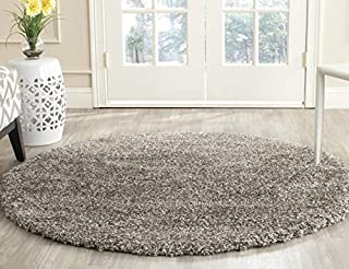 Safavieh Milan Shag Collection SG180-8080 Grey Round Area Rug (3' Diameter) (B01GS3OLEI) | Amazon price tracker / tracking, Amazon price history charts, Amazon price watches, Amazon price drop alerts