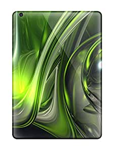 Anti-scratch And Shatterproof Abstract Green Phone Case For Ipad Air/ High Quality Tpu Case
