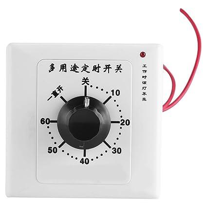 Temporizador, Interruptor del regulador del temporizador de 220V 60 minutos Interruptor del temporizador de la