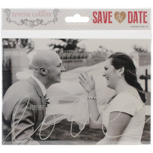 Teresa Collins Save The Date Photo Overlays, 4 by 6-Inch and 5 by 7-Inch