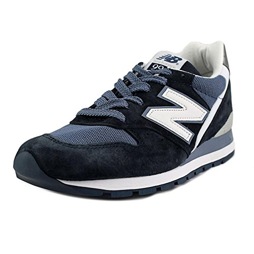 New Balance M996CPI Navy White Suede Mens Running Shoes Made in USA (9.5 D(M) US, Navy Blue -White)