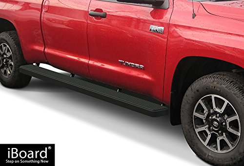 - APS iBoard (Black Powder Coated 6 inches Wheet to Wheel) Running Boards | Nerf Bars | Side Steps | Step Rails for 2007-2019 Toyota Tundra Double Cab 5.5ft Bed Pickup 4-Door