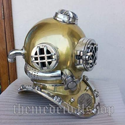 Other Maritime Antiques Maritime Antique Us Navy Mark V Divers Diving Helmet Scuba Decorative Vintage Helmet