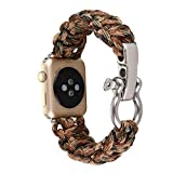 NEW Sports Nylon Rope Survival Bracelet Watch Band For Apple Watch Series 3 42MM (D)