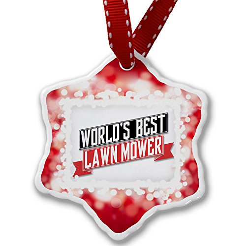Christmas Ornament Worlds Best Lawn Mower, red - Neonblond