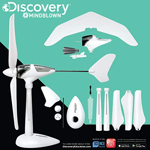 Discovery Mindblown Wind Turbine Glider Kit, STEM Science Experiment for Kids, Fun Home Engineering Project for Boys and Girls, Green Energy Powers Soaring Motorized Glider, Battery-Free + LED Lights by Discovery Mindblown (Image #3)