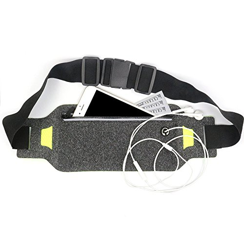 Running Belt - Runner Belt - Waist Pack - iPhone 6 6s 7 Plus Waist Holder for Runners - Best Running Belt for Hands Free Workout - Water Resistant & Reflective Fitness Accessories(Black) - Plus Size Accessories